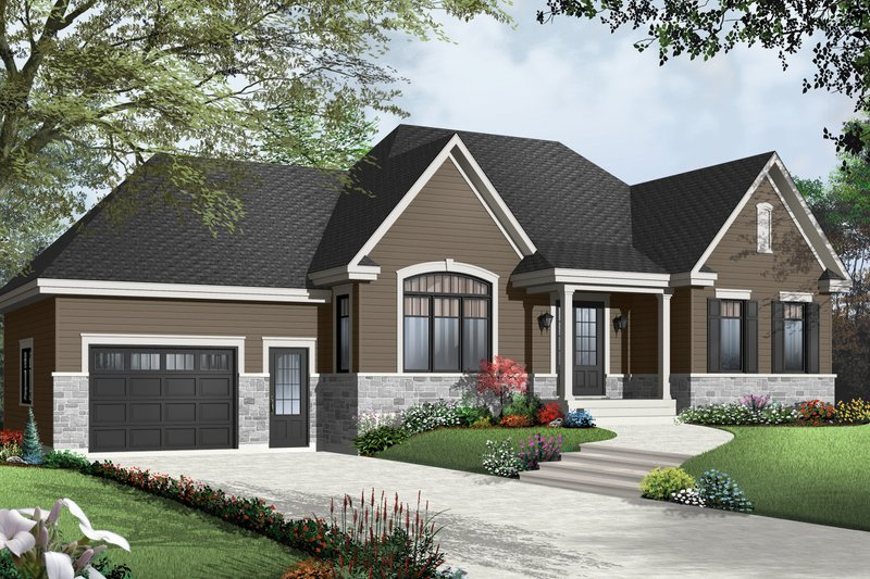 Dream House Plan - Traditional Exterior - Front Elevation Plan #23-2498