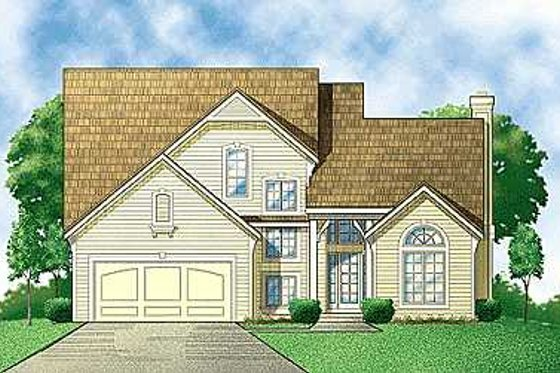 Traditional Exterior - Front Elevation Plan #67-105