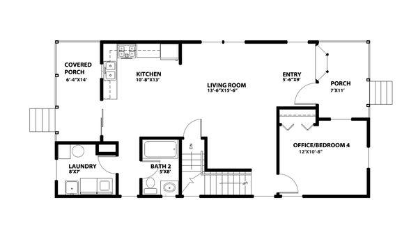 Traditional Floor Plan - Main Floor Plan Plan #515-22
