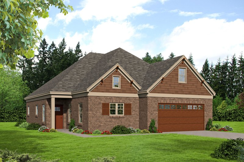 Country Exterior - Front Elevation Plan #932-273