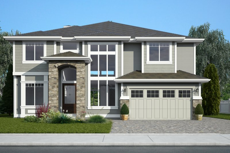 Contemporary Exterior - Front Elevation Plan #1066-12