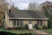 Cabin Style House Plan - 2 Beds 1 Baths 1013 Sq/Ft Plan #22-124 Exterior - Front Elevation