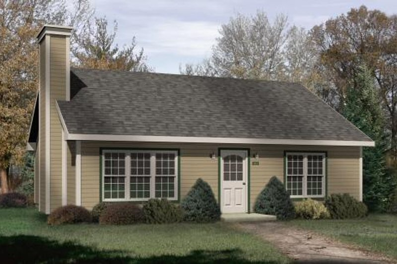 Cabin Style House Plan - 2 Beds 1 Baths 1013 Sq/Ft Plan #22-124