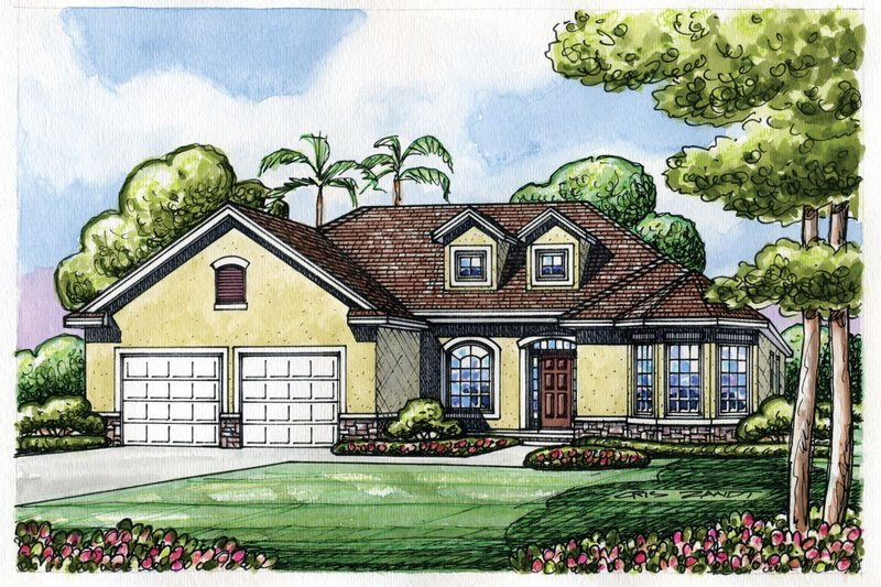 Home Plan - Traditional Exterior - Front Elevation Plan #20-2186