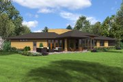 Contemporary Style House Plan - 3 Beds 2.5 Baths 2122 Sq/Ft Plan #48-698 Exterior - Rear Elevation