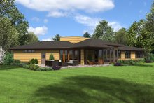 Contemporary Exterior - Rear Elevation Plan #48-698