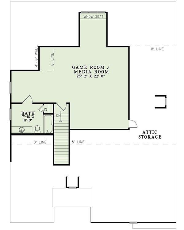 Traditional Floor Plan - Upper Floor Plan Plan #17-2465