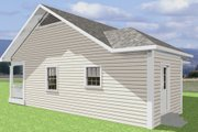 Cottage Style House Plan - 2 Beds 1 Baths 864 Sq/Ft Plan #44-114 Exterior - Rear Elevation