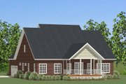 Craftsman Style House Plan - 3 Beds 2.5 Baths 2889 Sq/Ft Plan #898-28 Exterior - Rear Elevation