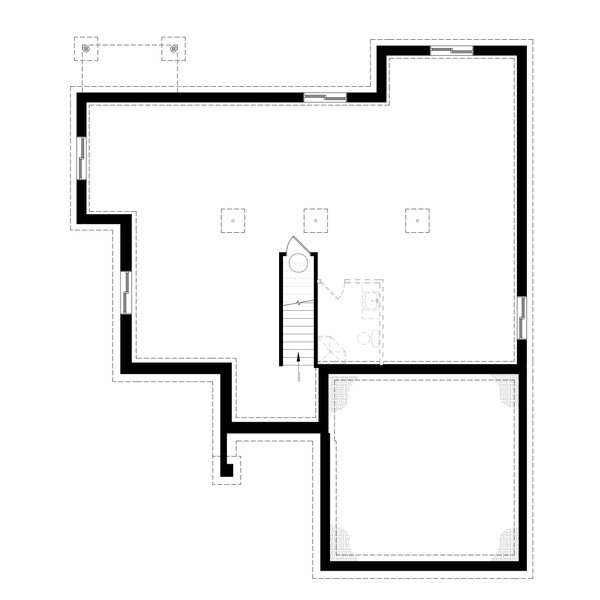 Architectural House Design - Unfinished Basement