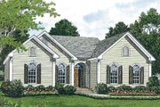 Traditional Style House Plan - 3 Beds 2 Baths 1383 Sq/Ft Plan #453-41 Exterior - Other Elevation