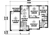 Traditional Style House Plan - 2 Beds 1 Baths 989 Sq/Ft Plan #25-4544 Floor Plan - Main Floor Plan