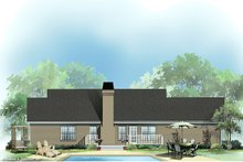 Country Exterior - Rear Elevation Plan #929-238