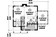 Country Style House Plan - 2 Beds 2 Baths 1196 Sq/Ft Plan #25-4619 Floor Plan - Main Floor Plan
