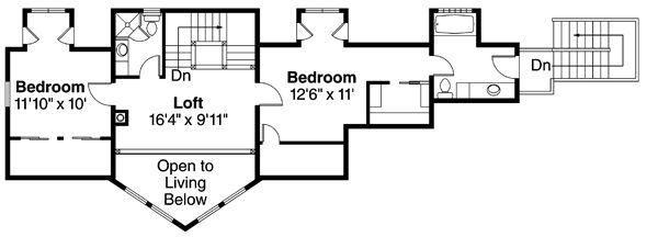 Contemporary Floor Plan - Upper Floor Plan Plan #124-874