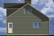 Contemporary Style House Plan - 3 Beds 2 Baths 1916 Sq/Ft Plan #126-166 Exterior - Rear Elevation