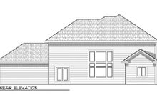 Home Plan - Traditional Exterior - Rear Elevation Plan #70-954