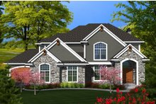 Dream House Plan - Traditional Exterior - Front Elevation Plan #70-1143