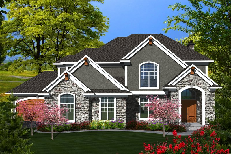 Traditional Exterior - Front Elevation Plan #70-1143 - Houseplans.com