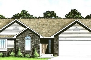 Traditional Exterior - Front Elevation Plan #58-112