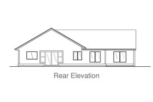 Architectural House Design - Craftsman Exterior - Rear Elevation Plan #53-581