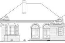 Classical Exterior - Rear Elevation Plan #137-238