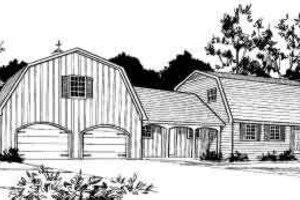 Farmhouse Exterior - Front Elevation Plan #312-477