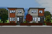 Modern Style House Plan - 3 Beds 1.5 Baths 1106 Sq/Ft Plan #126-171 Exterior - Other Elevation