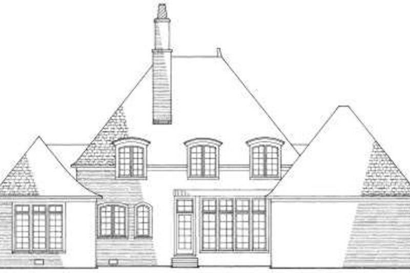 European Exterior - Rear Elevation Plan #137-225 - Houseplans.com