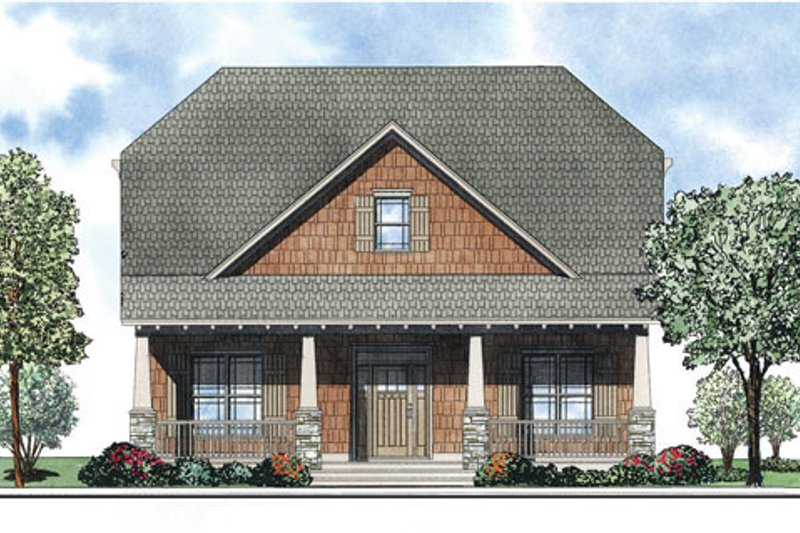 Home Plan - Bungalow Exterior - Front Elevation Plan #17-2408