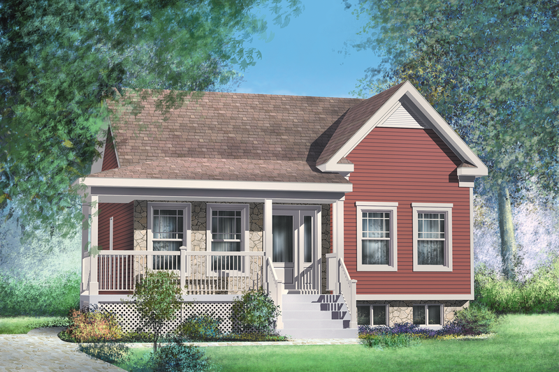 Cottage Style House Plan - 2 Beds 1 Baths 911 Sq/Ft Plan #25-4138