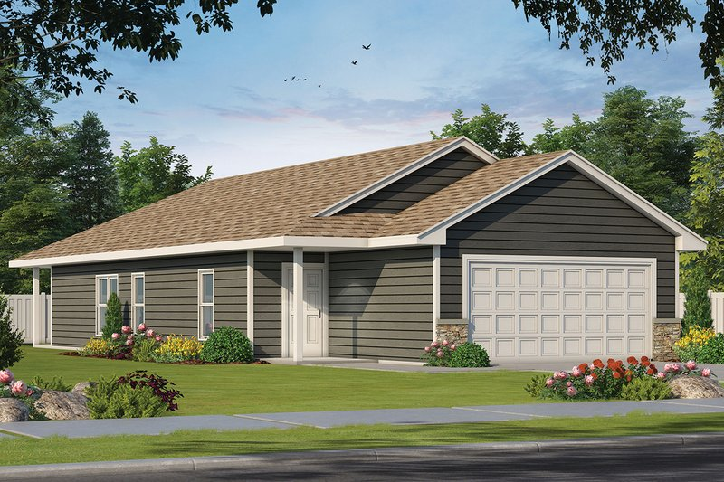 Home Plan - Traditional Exterior - Front Elevation Plan #20-2341
