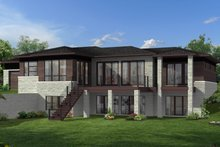 Architectural House Design - Modern Exterior - Rear Elevation Plan #1057-23