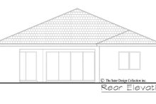 Contemporary Exterior - Rear Elevation Plan #930-494