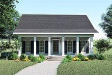 Southern Exterior - Front Elevation Plan #44-148