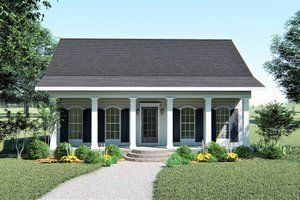 Home Plan - Southern Exterior - Front Elevation Plan #44-148