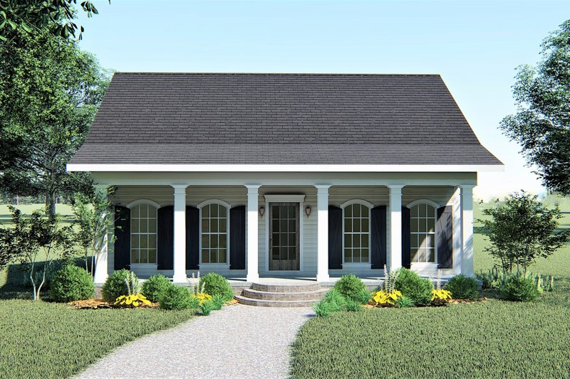 House Plan Design - Southern Exterior - Front Elevation Plan #44-148