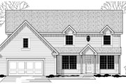 Traditional Style House Plan - 4 Beds 2 Baths 2620 Sq/Ft Plan #67-843 Exterior - Front Elevation
