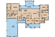 Craftsman Style House Plan - 4 Beds 3.5 Baths 3084 Sq/Ft Plan #923-15 Floor Plan - Main Floor Plan