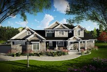 Home Plan - Craftsman Exterior - Front Elevation Plan #70-1470