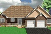 Traditional Style House Plan - 2 Beds 2 Baths 1662 Sq/Ft Plan #414-119 Exterior - Front Elevation