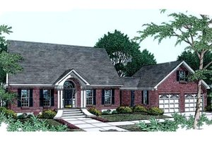 Southern Exterior - Front Elevation Plan #406-222