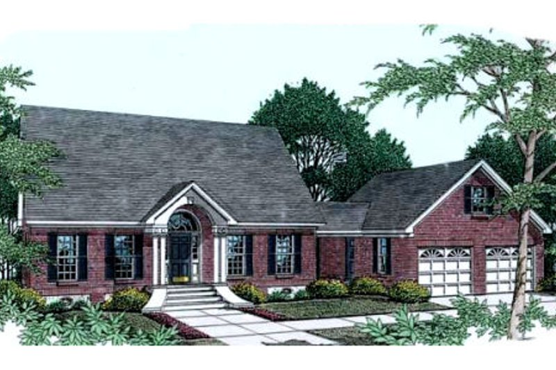 Southern Exterior - Front Elevation Plan #406-222 - Houseplans.com