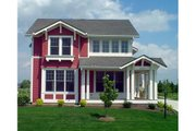 Craftsman Style House Plan - 4 Beds 3.5 Baths 3355 Sq/Ft Plan #458-15 Exterior - Front Elevation