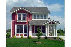 Craftsman Exterior - Front Elevation Plan #458-15