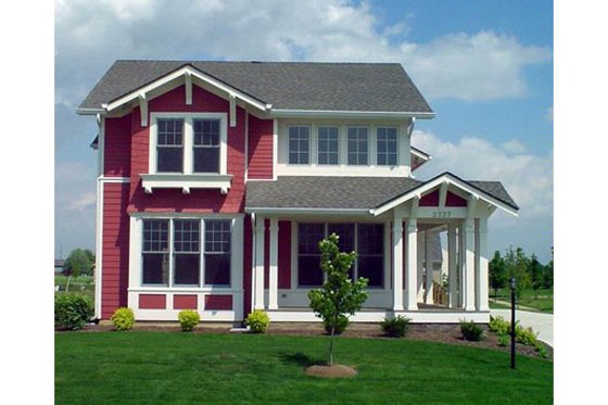 Craftsman Exterior - Front Elevation Plan #458-15