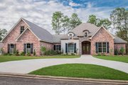 European Style House Plan - 4 Beds 3.5 Baths 3287 Sq/Ft Plan #430-130 Exterior - Front Elevation
