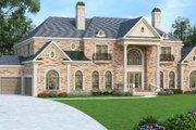 Colonial Style House Plan - 5 Beds 5.5 Baths 7318 Sq/Ft Plan #419-235 Exterior - Front Elevation
