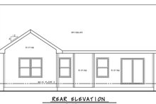 Craftsman Exterior - Rear Elevation Plan #20-2390