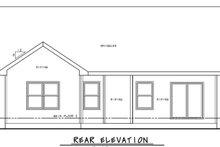 House Plan Design - Craftsman Exterior - Rear Elevation Plan #20-2390